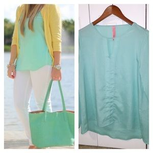 Eight Sixty Tops - Eight Sixty Mint Green Blouse.