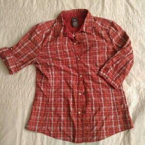 REI Tops - REI snap-front pink plaid field shirt S