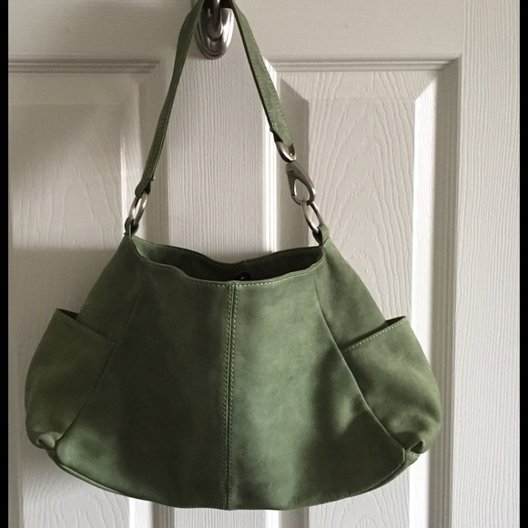 90% off HOBO Handbags - ☘ SALE Hobo International Green Suede Bag ...