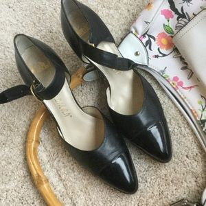 Delman Shoes - Delman black leather heels, 7.5N
