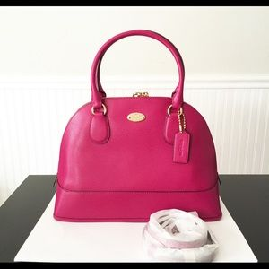 NWT Coach Cora domed leather satchel