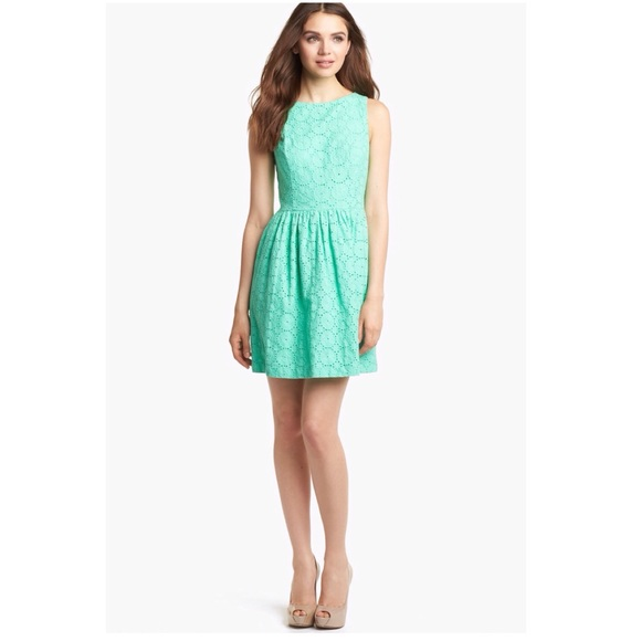 9648a9eec8e62 Kensie Dresses   Skirts - Mint green eyelet fit and flare dress