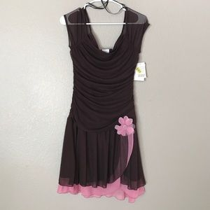 Jodi Kristopher Dresses & Skirts - Brown and Pink Dress