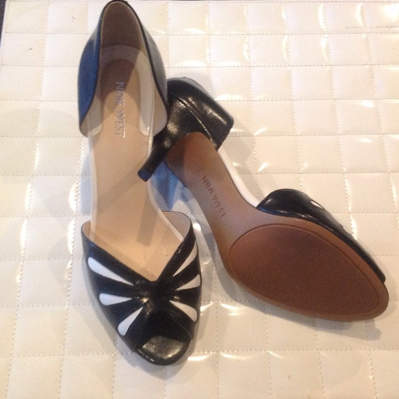 nine west nine west black and white shoes from adrian s