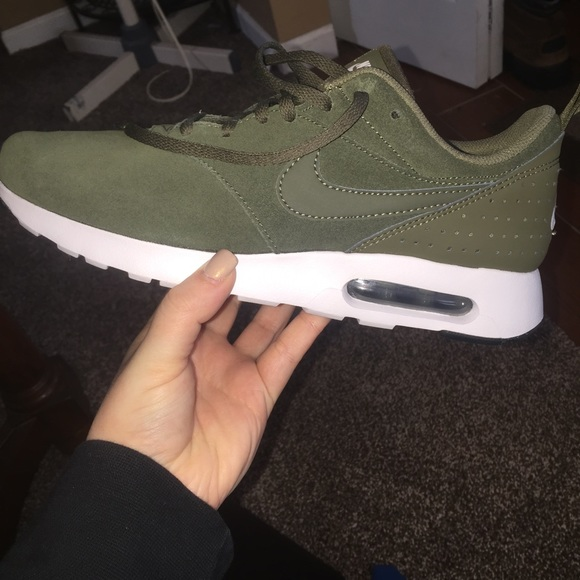 f837edde5e Nike Shoes | Air Max Tavas Leather Color Cargo Khaki | Poshmark