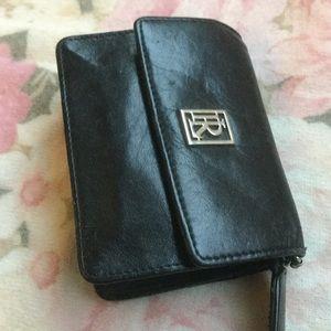Ralph Lauren black leather card/change purse