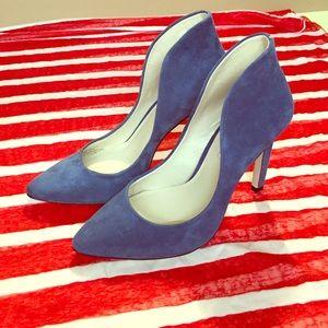 BCBGeneration Shoes - BCBGeneration High Back, Suede Blue Pumps