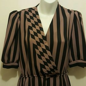 VINTAGE 80's striped day dress