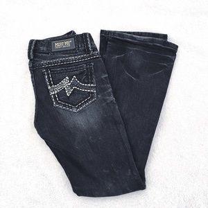 🆕 Miss Me dark wash grey gray blue boot cut jeans
