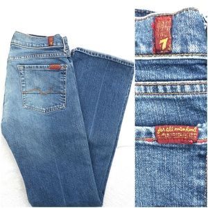 🆕 7 for all mankind light blue boot cut jeans