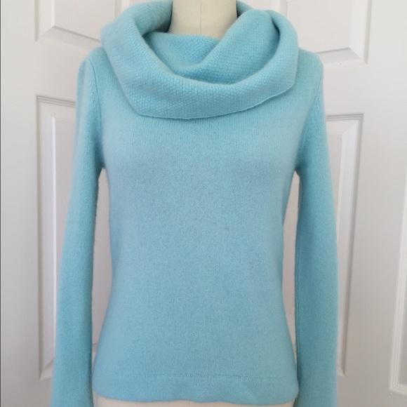 40% off Carole Little Sweaters - CAROLE LITTLE Aqua Blue Cowl Neck ...
