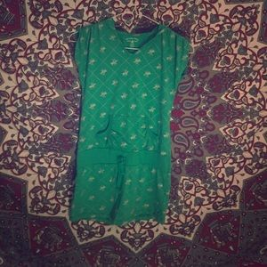 Green polo hoodie dress
