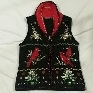 LISA INTERNATIONAL  Sweaters - CHRISTMAS HOLIDAY VEST/SWEATER
