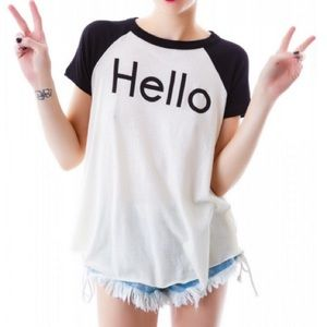 Wildfox couture - t shirt - Charlie retro raglan