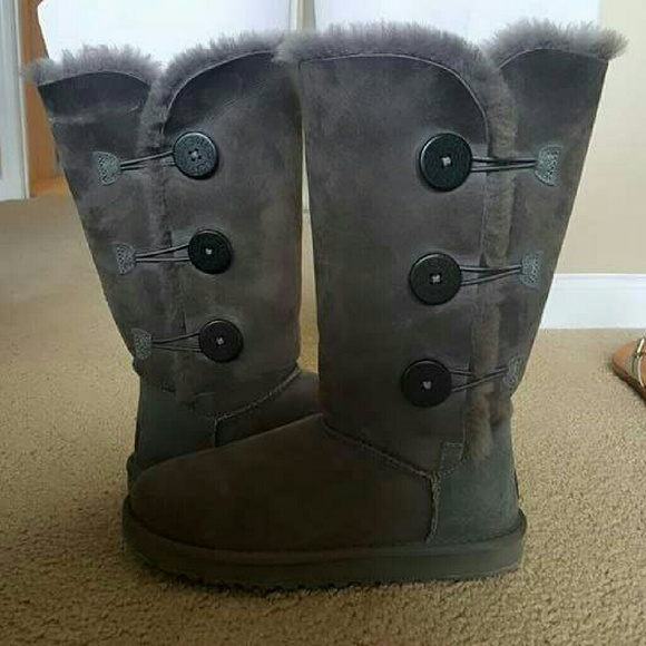 55 off ugg shoes tall grey uggs with buttons from