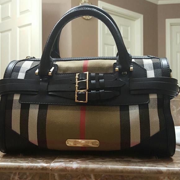 Burberry Handbags - Burberry Bridle House Check Belted bowling Bag 01d526de9360e