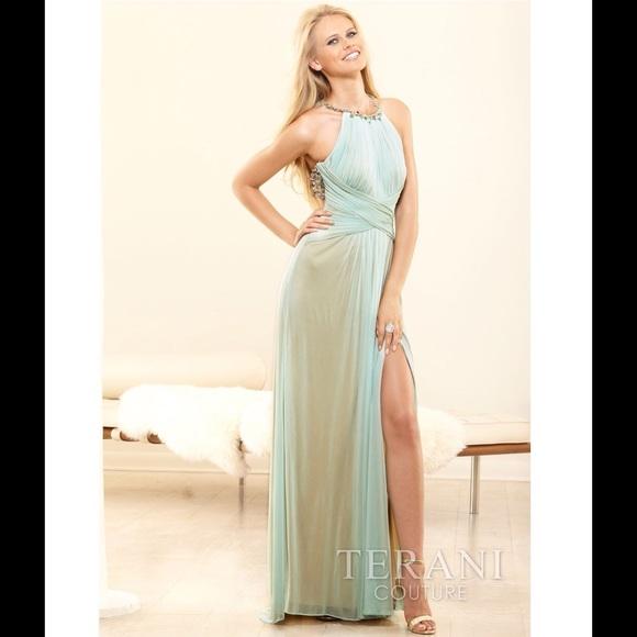3de9f8c61ef7 Terani Couture Dresses | Terani Mint Green Eveningprom Dress | Poshmark