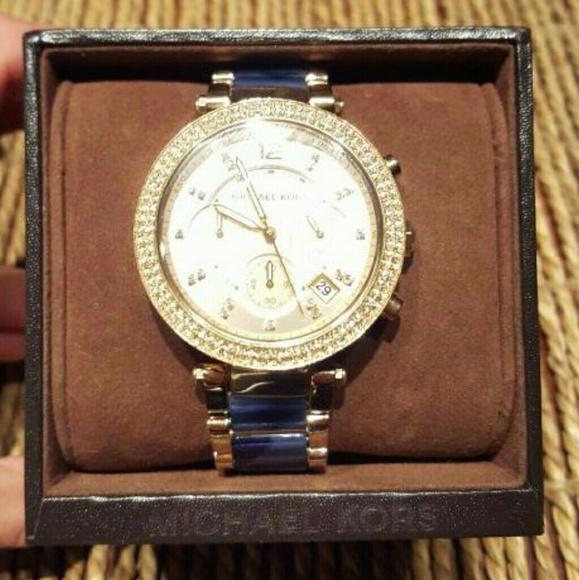d5db16532f551 Michael Kors Women s Parker Blue watch MK6238