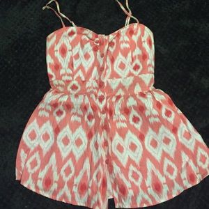 Forever 21 linen tank coral sz s