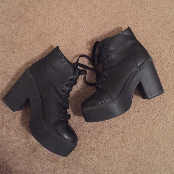 3b7e1db3598a Forever 21 Shoes - 💀BLACK PLATFORM BOOTS💀