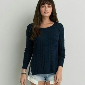 New American eagle navy sweater with zippers