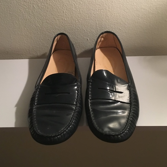 8c340319edb Tod's Shoes | Tods Gommino Patentleather Loafers In Navy | Poshmark