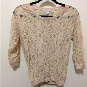 Lace 3/4 sleeve top | forever 21