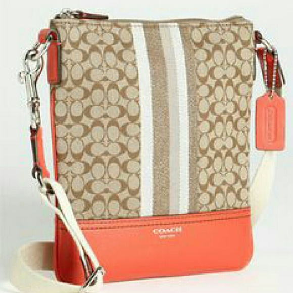 ca851980e9 Coach Handbags - Coach  Legacy- Signature Stripe  Crossbody Bag