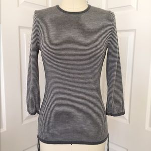 BANANA REPUBLIC Striped Merino Wool Sweater Small
