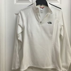 North Face White pull over