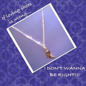 FINAL SALE $ Swarovski Crystal shoe necklace