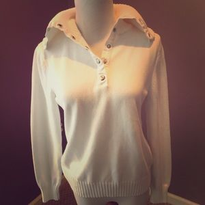 White Ralph Lauren White Sweater