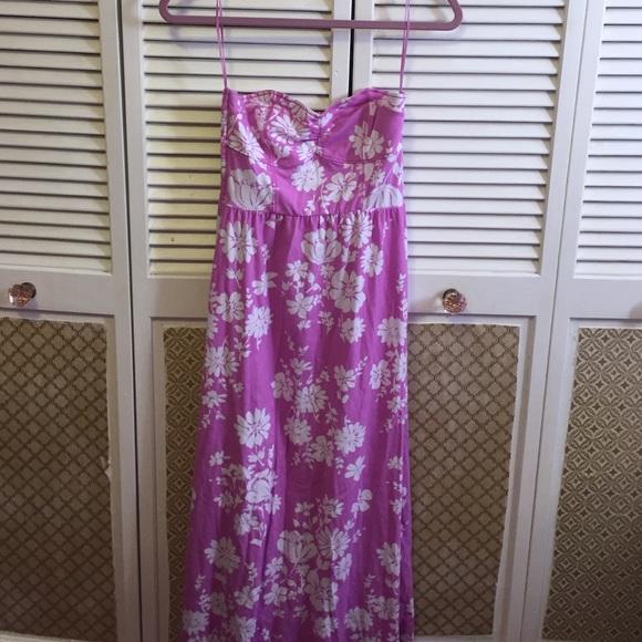 Aeropostale Dresses & Skirts - Magenta floral maxi dress