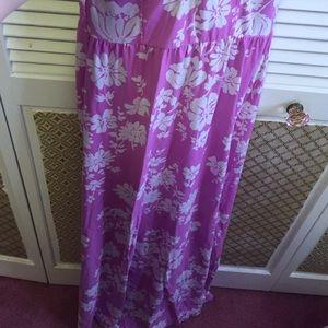 Aeropostale Dresses - Magenta floral maxi dress