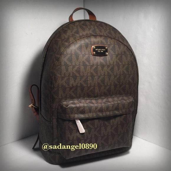 c4bf153182de Michael Kors Bags | New Large Jet Set Backpack Brown | Poshmark