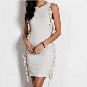 Fringe body con dress