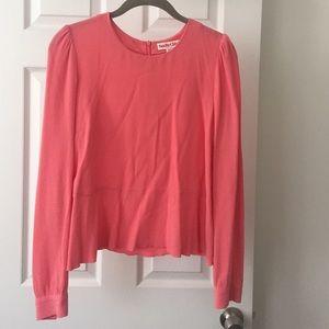 See By Chloe Salmon crepe peplum blouse
