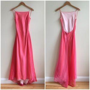 ABS Allen Schwartz Dresses & Skirts - Pink Backless Prom Dress