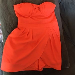 Bright neon orange jumper summer skort dress