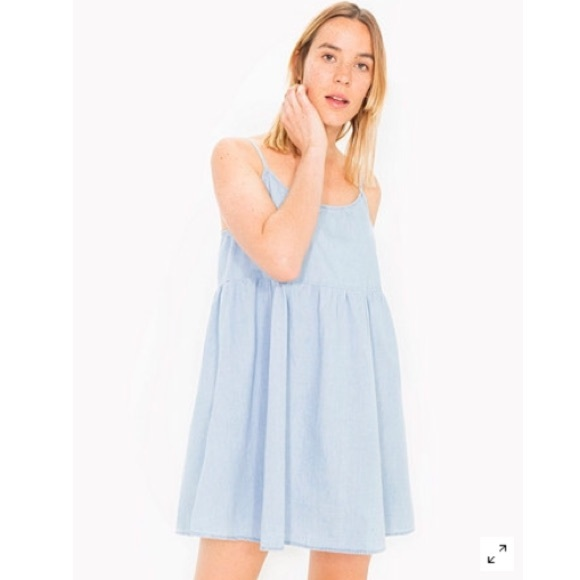 ebb9bc5c43 American Apparel Dresses   Skirts - American Apparel Babydoll Denim Dress