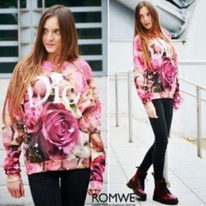 ROMWE Sweaters - Dior Floral Sweatshirt