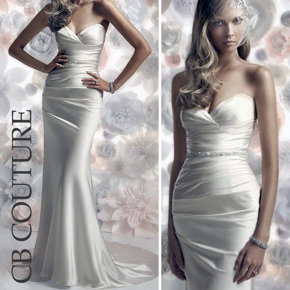 38 off cb couture dresses skirts sheath sweetheart for Cb couture wedding dresses