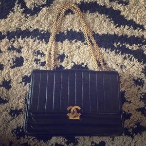 CHANEL Handbags - HUGE reduction! Beautiful vintage black Chanel bag