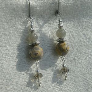 Jasper and Labradorite Earrings