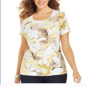 120677c4df3 Charter Club Tops - Charter club plus size Pima cotton printed tee