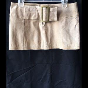 Wet Seal leather mini skirt