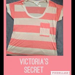 BNWT med coral and beige Victoria's Secret shirt