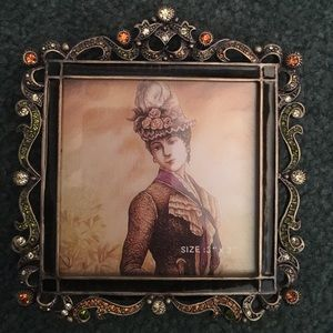 Other - Orange Jeweled Picture Frame