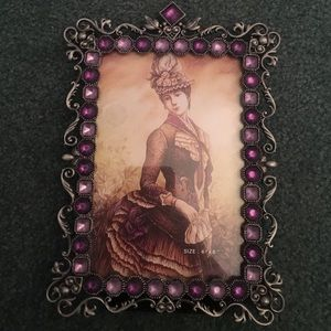 Other - Purple Jeweled Picture Frame