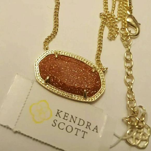 pendant necklace stone goldstone flower bone jewelry gold